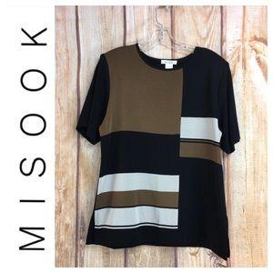 🐞MISOOK Block Print Short Sleeve Top Size M